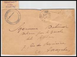 52475 Manche Ducey 1917 Hopital Medecin Chef Sante Guerre 1914/1918 War Devant De Lettre Front Cover - WW I