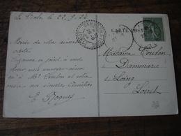 Cachet Perle Dammarie Sur Loing Facteur Boitier Obliteration Sur Lettre - Postmark Collection (Covers)