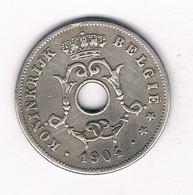 10 CENTIMES  1904 VL BELGIE /3302/ - 1865-1909: Leopold II