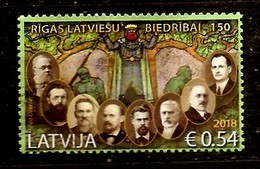 Latvia 2018 Riga Latvian Society  -  Stamp USED (0) - Lettonie