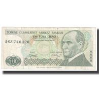 Billet, Turquie, 10 Lira, 1970, 1970-01-14, KM:192, TTB - Turquie