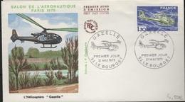 FDC 451 - FRANCE N° 1805 Hélicoptère Gazelle Sur FDC 1975 - FDC