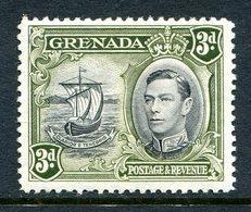 Grenada 1938-50 KGVI Pictorials - 3d Badge Of The Colony - Brown-olive - P.12½ - HM (SG 158b) - Grenada (...-1974)