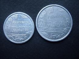 POLYNESIE FRANCAISE = 2 MONNAIES  DE 1 Et 2 FRANCS  DE 1995 Et 1979 - Polynésie Française