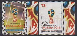 MACEDONIA, 2018, MNH, SOCCER, FIFA WORLD CUP, RUSSIA 2018, 4v - World Cup