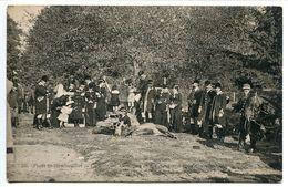 CPA - Forêt RAMBOUILLET Chasse Courre Le 1000e Cerf Pris Aux Frémillons Duchesse D'Uzès Assise Equipage Bonnelles - Rambouillet