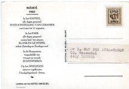 PRE693 Sur CV Publicitaire Exposition Céramique Château De Beloeil - Typo Precancels 1951-80 (Figure On Lion)