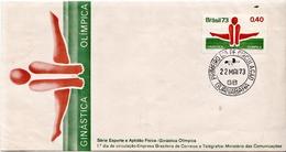 Brazil Stamp On FDC - Gymnastics