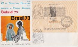 Brazil SS On FDC - Christianity