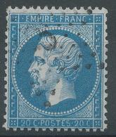 Lot N°47814  Variété/n°22, Oblit étoile 3 De PARIS (Pl De La Madeleine), Fond Ligné Horizontal - 1862 Napoléon III