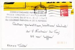 """FRANCE - Enveloppe Affr. Luquet - """"Correspondance Parvenue En Fausse Direction à France-Telécom Draguignan... - France"""