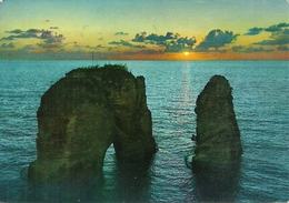 Beirut (Lebanon) Pigeons Grotto At Sunset, Grotte Aux Pigeons Au Coucher Du Soleil - Libano