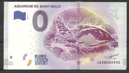 Billet Touristique 0 Euro 2019-3 Aquarium Saint Malo Tortue Marine - EURO