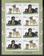 Tajikistan Tadschikistan MNH** 2018 Year Of Dogs Mi 782-783 KB B - Tadschikistan