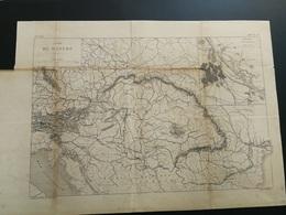 ANNALES PONTS Et CHAUSSEES (Italie) - Carte Du Danube - 1888 - Graveur Macquet - (CLB29) - Travaux Publics