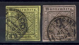 Allemagne - N° 2 Et 4 - Oblitérés - B/TB - - Wurttemberg