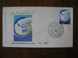 Enveloppe FDC Maroc 1986   à Voir - Maroc (1956-...)
