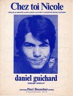 DANIEL GUICHARD - 1971 - CHEZ TOI NICOLE - EXCELLENT ETAT PROCHE DU NEUF - - Autres