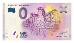0 Euro Billet Souvenir Slovaquie 2018 - Le SPA De BARDEJOV - EURO