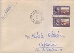 Italia 1955 - Lettera Viaggiata Con Coppia Giornate Mediche Internazionali Verona. Timbro Arrivo - 6. 1946-.. Repubblica