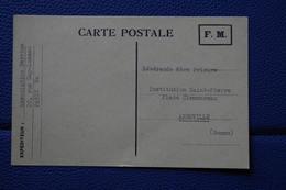 6-116 Carte Franchise Militaire FM 1960 Ecole Surveillant Religieuse - Variétés Et Curiosités