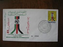 Enveloppe FDC Maroc 1982    à Voir - Maroc (1956-...)