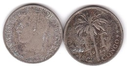 Belgisch / Congo - 1 Franc 1924 - F Lemberg-Zp - Congo (Belge) & Ruanda-Urundi