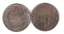Belgisch / Congo - 1 Franc 1928 - F Lemberg-Zp - Congo (Belge) & Ruanda-Urundi