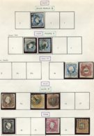 12370 PORTUGAL  N° 2, 6/6a, 11, 12, 13, 14, 15, 18, 21, 23 °  1853-66   B/TB - 1853 : D.Maria