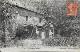 Cpa Le Moulin D'Agon -50--Coutainville-coll.TUAL-pers.écrite Voyagée 1915 - France