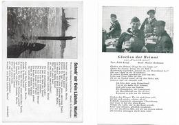 Lot De 2 Cartes De Chansons Dont Une Kriegsmarine   - époque Du III Reich - Guerra 1939-45