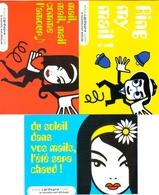 """3 Cartes Postales """"Cart'Com"""" (2000) - Cardwave - Publicité"""