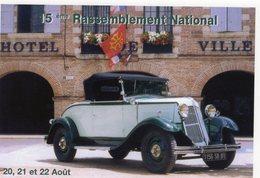 Renault Primaquatre Cabriolet   -  15eme Rassemblement National Renault  -  Carte Postale - Voitures De Tourisme