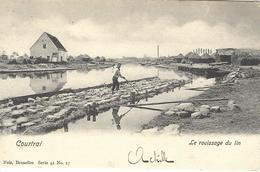 8VL-866: Courtrai  Le Rouissage Du Lin   Nels, Série 41 N°17 - Kortrijk