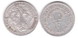 Congo - 10 Francs 1965 - F Lemberg-Zp - Congo (Democratic Republic 1964-70)