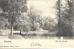 8VL-864: Courtrai  Un Coin Du Parc  .. Met Zwaan   Nels, Série 41 N°16 - Kortrijk
