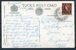 GB S.S. EMPRESS OF BRITAIN Ship Postcard. Maiden Voyage - 1952-.... (Elizabeth II)