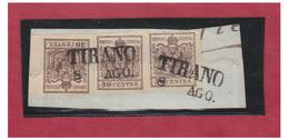 ITALIE --LOMBARDO-VENETIE-- 30CENTS TYPE II --OBLITERATION LINEAIRE-- - Lombardo-Vénétie