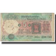 Billet, Inde, 5 Rupees, KM:80g, TB - Inde