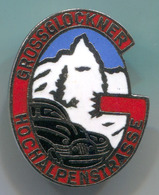 Alpinism, Mountaineering, Climbing - Grossglockner Hochalpenstrasse, Austria, Enamel, Vintage Pin, Badge, Abzeichen - Alpinism, Mountaineering