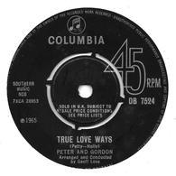 "Peter And Gordon  ""  True Love Ways  "" - Vinyles"