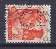 Italy Perfin Perforé Lochung 'C I' 1961 Mi. 1083 10 L Michelangelo (2 Scans) - 6. 1946-.. Republic