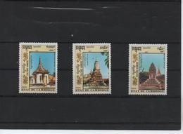 CAMBODGE /CULTURA KHMERE 1053/1055 (3V) 1992 IVERT - Camboya