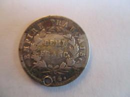 France: 1/2 Franc 1814 A (1 Hole) - G. 50 Centesimi