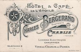 Carte De Visite CHABLIS - Hôtel Bergerand (A209) - Chablis