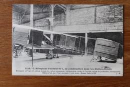 Cpa Aeroplane  Fournier N°1   En Construction Dans Les Ateliers Voisin    Beau Precurseur - Aviateurs