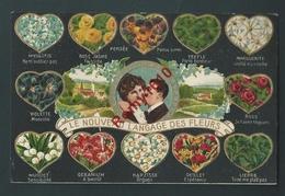 Le Nouveau Langage Des Fleurs. Couple - Superbe Litho Gaufrée. N°14881.   2 Scans - Fleurs
