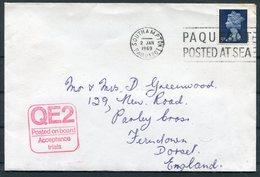 1969 GB 6 Different Journeys QUEEN ELIZABETH 2, QE2 Ship Covers/postcards. Paquebot Southampton New York - 1952-.... (Elizabeth II)
