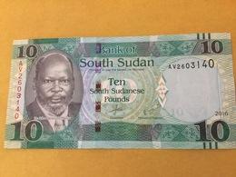 SOUTH SUDAN P12b 10 Pounds 2016 UNC - South Sudan