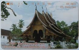 LAOS - Enterprise Des Telecommunicaions Lao - 100 Units - Used - Laos